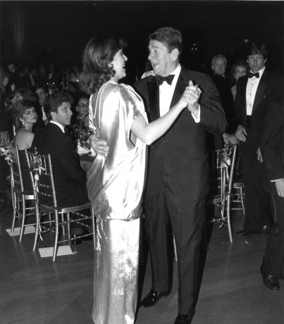 H.R.H. Princess Caroline of Hanover shares a dance with President Ronald Reagan at The White House for PGF's inaugural Gala in 1984