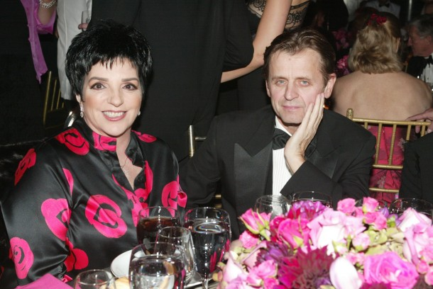 "In 2005, Liza Minelli takes a moment to congratulate Mikhail Baryshnikov on his Prince Rainier lll award for his outstanding 'give-back "" to the arts community"
