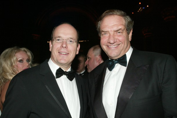 In 2005, H.S.H. Prince Albert II of Monaco spends time with his good friend Honorary Consul of Monaco, and television producer, Dick Wolf