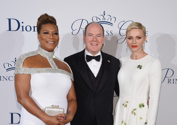 T.S.H Prince Albert II and Princess Charlene with Queen Latifah